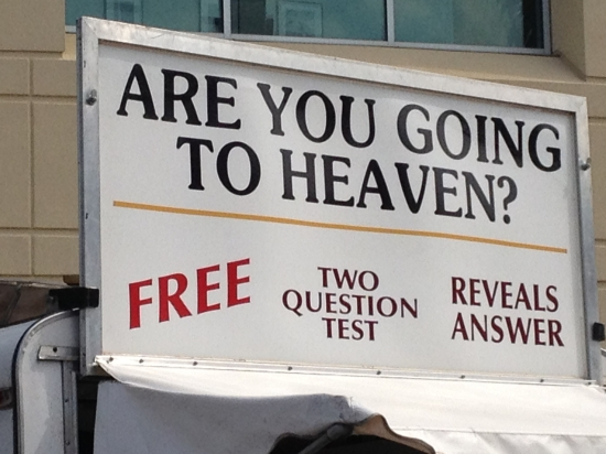 heaven question