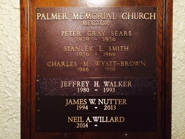 church plaque